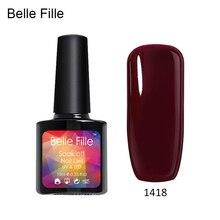 Belle Fille Red Wine Gels Nail Polish for Fashion Makeup UV Gel Soak Off Bling Shining Coat 20 Colors Nail Gel Polish UV LED