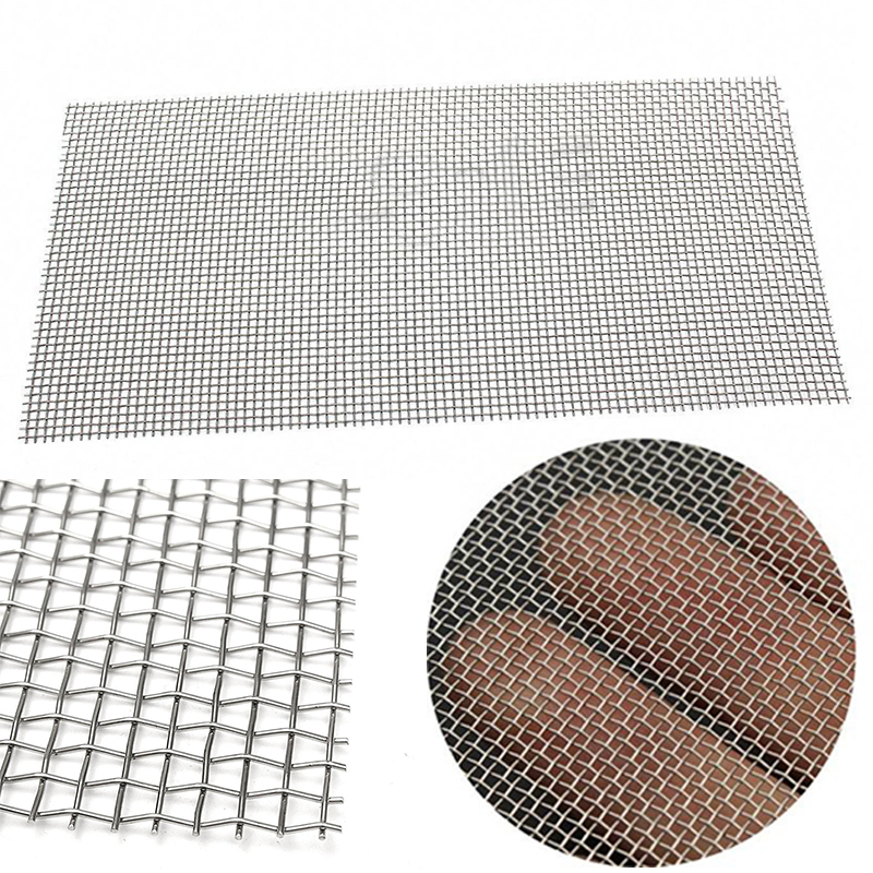 5/8/20/30/40 Mesh Stainless Steel Screen Wire Filter Sheet Woven Cloth 15x30cm with Wear Resistance new 120 mesh 125 micron stainless steel woven wire cloth screen filter 30x90cm for home diy tools
