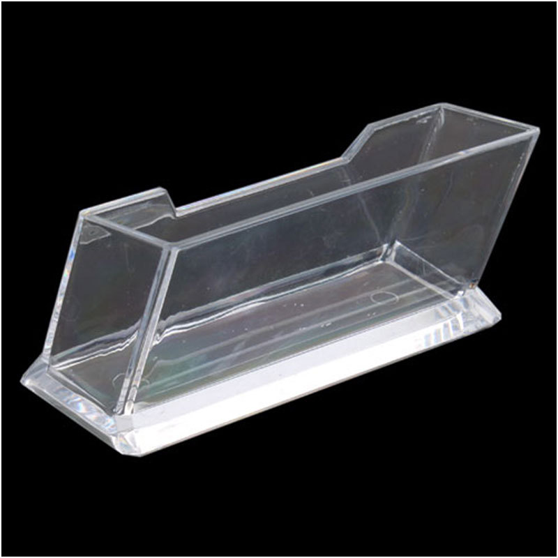Fashion 1pcs Clear Desktop Business Card Holder Display Stand
