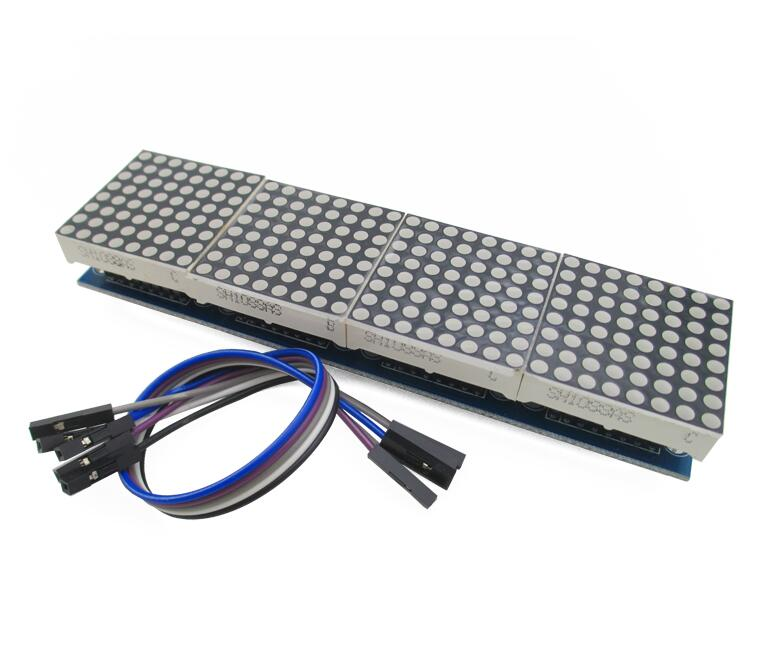 MAX7219 Dot Matrix Module For Arduino Microcontroller 4 In One Display with 5P Line