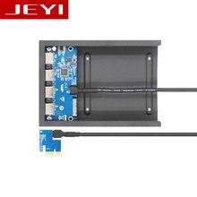 JEYI PE5 Рабочего дисковод бит 4 PCI-E для USB3.0 расширение карты ВЛИ VL805 передней панели PCI-Express X1 X4 слот X8 X16 USB3.1
