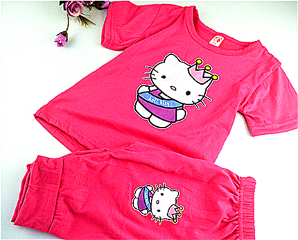 2015 summer style kids  family clothing baby girl  clothing set kid t shirt sets children kids sets girls free shippingKDST001-3 рубашки