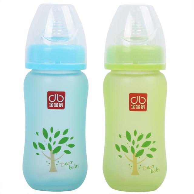 Hot! temperatura Biberon Bebê Garrafa de Vidro Garrafa de 230 ml Garrafa Alimentação Automática Flesje Infanti Bebê com Um Canudo de Melk Flesje