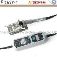 Free Shipping EU Plug YiHua 908D Soldering Iron Station Mini Pockeat Adjustable Thermostat Soldering Station Holder