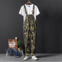 S 4XL European and American camouflage casual pants men spring and autumn trend jumpsuit pants suspenders Slim couple bib pants