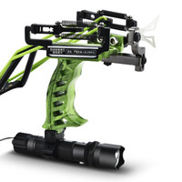 Powerful laser slingshot black red hunting bow slingshot fishing outdoor shooting fish sling elastic elastic band
