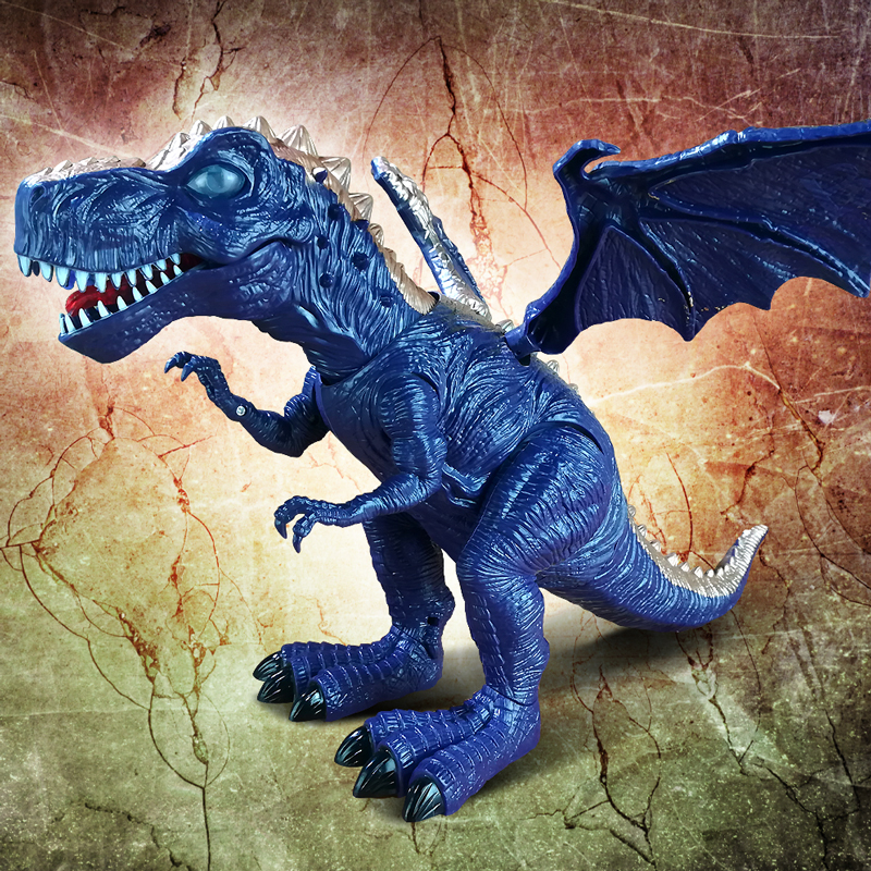 New Electronic Tyrannosaurus Rex Toy, Electric Dinosaur Robot With Flashing & Sounding Dinosaurs For Games Hot Toy Gift for Kids