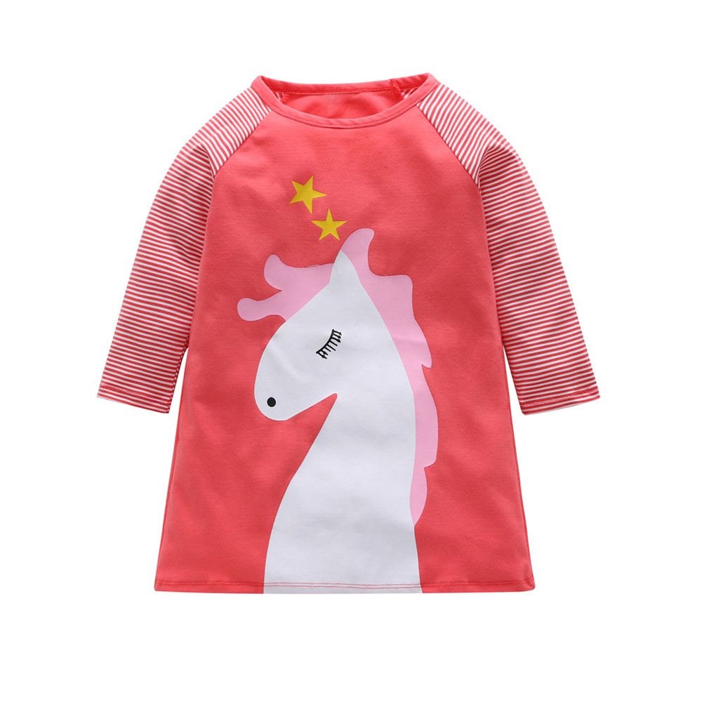 HTB1Lm31B8mWBuNkSndVq6AsApXaw 1-7 Years Kids Girl Dress Toddler Baby Long Sleeve Dresses Summer Children Clothing Girls Cotton Princess Dress Kid Tops Outfits