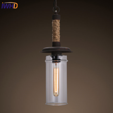 IWHD Loft Industrial Vintage Pendant Lamp Iron Retro Pendant Lights Glass Hamglamp Home Lighting Luminaire Suspendu loft industrial rust ceramics hanging lamp vintage pendant lamp cafe bar edison retro iron lighting