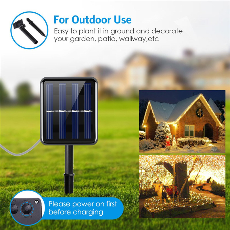 cheapest 12 22 32m LED Outdoor Solar Lamp 100 200 LEDs String Lights Fairy Holiday Christmas Party Garland Solar Garden Waterproof Lights