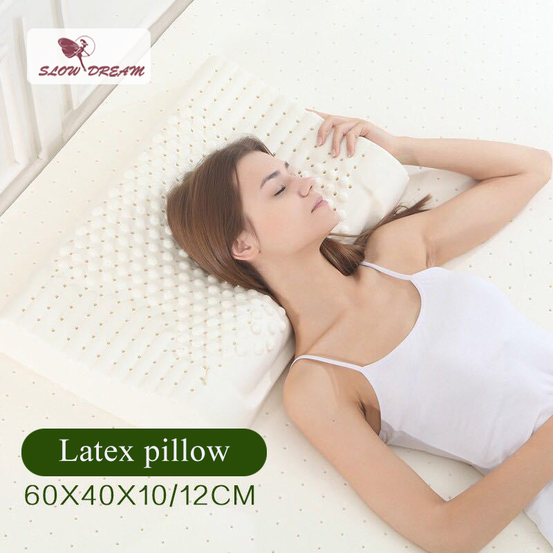 Slowdream Soft Pillow Home Textiles Bedding Thailand Natural Latex Pillow Healthy Care Neck Spine Slow Rebound Latex Pillow in Bedding Pillows from Home Garden
