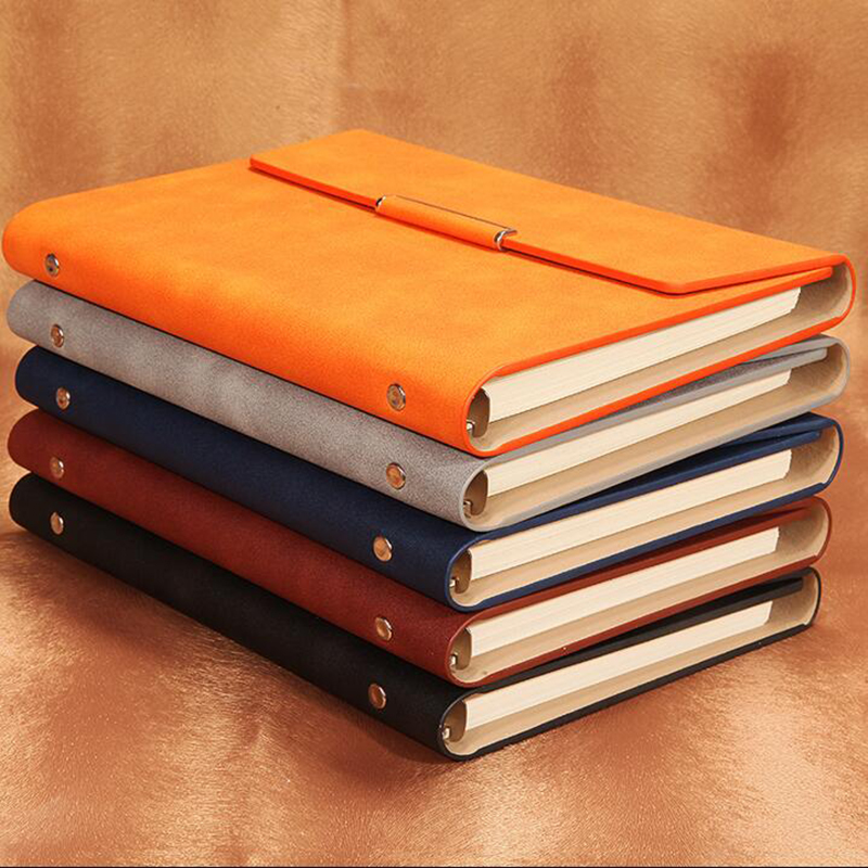 Three fold PU leather cover A5/B5 loose-leaf notebook stationery books commercial notepadGive a multi-function pen семена three leaf akebia akebia trifoliata seeds