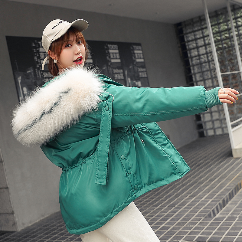 new 2020 Women Winter Short Jacket Mujer Hooded   Parkas   Winter Coat Women Loose   Parka   Fur Collar down Cotton Padded Jackets