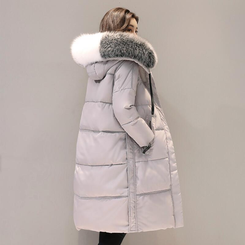 Inverno Duvet Gray Canard Femmes Parkas Blac Manteau Mode 2017 Fur Mujer gray Ly664 Veste Casaco Col gris Fourrure D'hiver Blanc De Capuchon Chaud gray Femme Noir Collar Au À qAwIxxHf