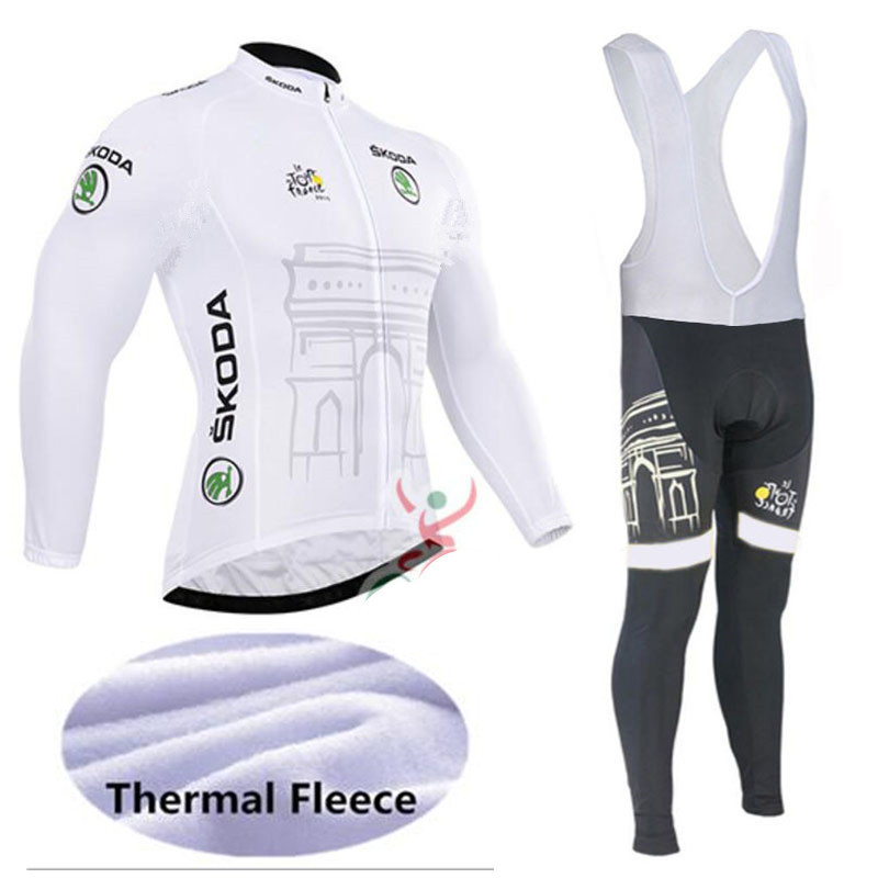 Tour De France Cycling Jerseys Cycling Set Winter Thermal Fleece Long Sleeves Suit Maillot Bike Clothing Ropa Ciclismo live team cycling jerseys suit a001