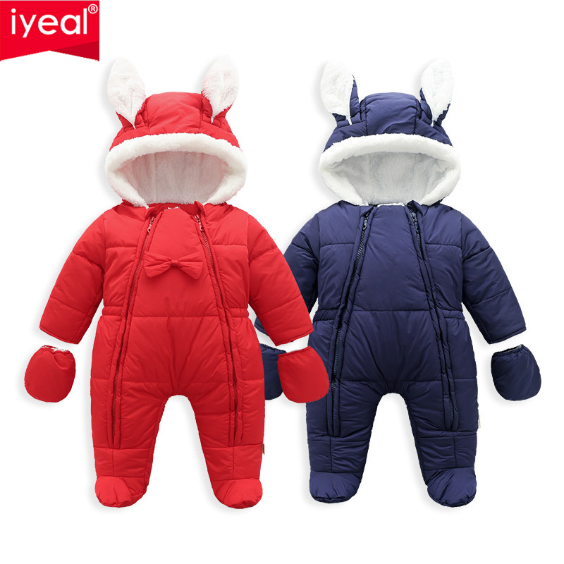 IYEAL Newest Warm Baby Rompers Winter Baby Clothing for Newborn Fleece Velvet Infant Overalls Boy Girl Clothes Toddler Jumpsuits 0 12m autumn fleece baby rompers cute pink baby girl boy clothing infant baby girl clothes jumpsuits footed coverall gl001740695