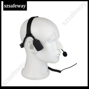 Image 2 - سماعات رأس تكتيكية توصيل عظمة عسكرية مع ميكروفون بوم لراديو كينوود باوفينج UV 5R Wouxun اتجاهين
