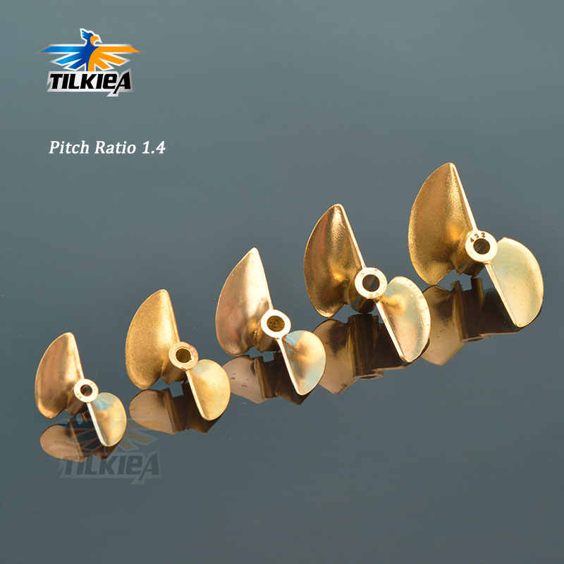 RC D30/32/35/38/44/48/50/52mm Boot Prop 3.18 mm/4mm/4.76mm PositiveScrew 2 blades Koperen Propellers Links Voor RC Boot