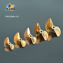 RC D30/32/35/38/44/48/50/52mm Boat Prop 3.18mm/4mm/4.76mm PositiveScrew 2 blades Copper Propellers Left For RC Boat