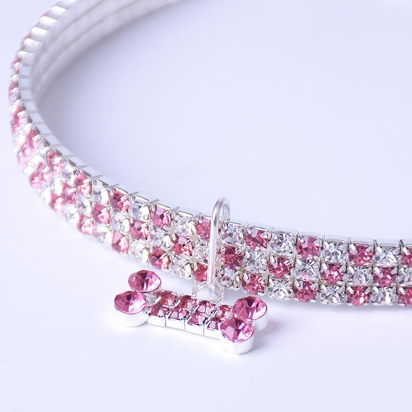 petit collier pour chien avec cristaux