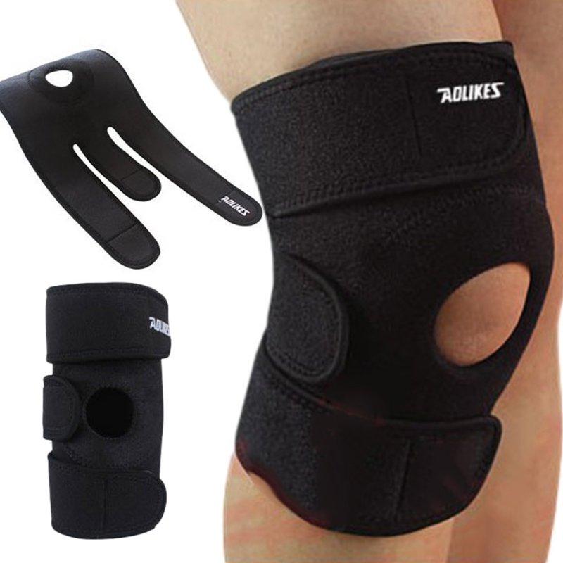 купить Adjustable Unisex Cap Stabilizer Sports Outdoor Sports Black Knee Patella Support Brace Sleeve Wrap Knee Protectors по цене 189.71 рублей