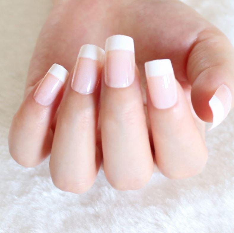 72Pcs/Lot Natural Realistic Fake Nails Nail Art Make up full cover ...