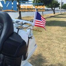 Мотоцикл с чпу алюминиевый заднего боковое крепление на багажник на крыше антенна вертикальная флагшток для honda goldwing gl1800 gl1500 2001-2012
