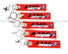 Nouveau A320/A330/A340/A350/A380 Sac Tag voyage Bagages Tag Rouge Brodent Metal Avion Cadeau pour Pilote Vol Crew