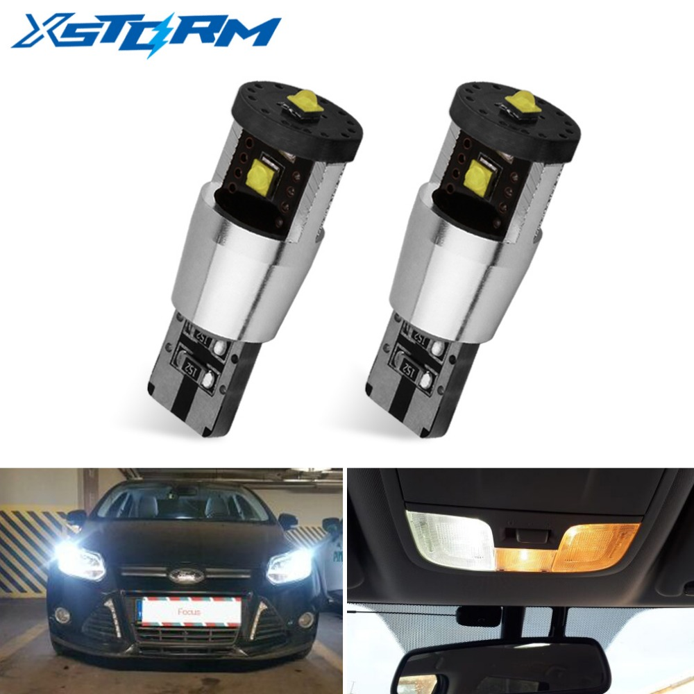 2Pcs T10 <font><b>LED</b></font> Canbus <font><b>W5W</b></font> <font><b>Led</b></font> <font><b>Bulb</b></font> Super Bright 194 168 Error Free Wedge Clearance Parking Car Light Auto Lamp <font><b>12V</b></font> 6000K White image