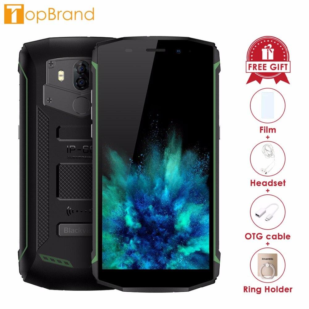 Blackview BV5800 Pro Smartphone 5.5 Écran 2 gb RAM 16 gb ROM Android 8.1 MTK6739 Quad Core 1.5 ghz recharge sans fil NFC 4g OTG
