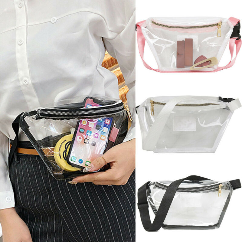 Men Women Unisex Waist Bag Transparent  PVC Chest Bag Clear Jelly Bag Casual Fashion Waist Bag 2019 New