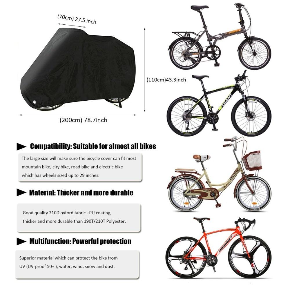 Motorcycle Waterproof Outdoor Road Mountain Bike Dust Rain Cover Large XL