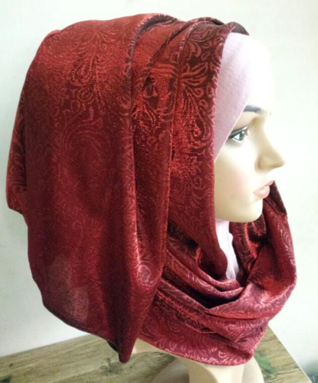 Muslim shimmer scarf shiny solid shawl arab head scarf shawl 170cm X 70cm  5 colors 10pcs/lot free ship