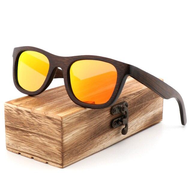 Best Handmade luxury Sunglasses Men Polarized Zebra Vintage Bamboo Wood Women Sunglasses High Quality With Glasses Case Box