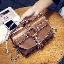 2016 summer handbag buckle small square package European and American fashion small bag chain shoulder bag women Messenger bag