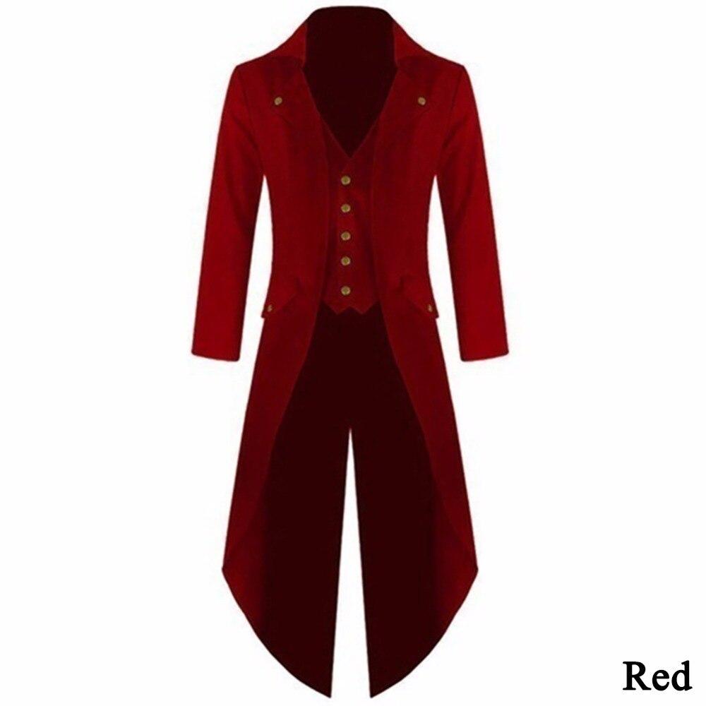 2017 Mantel Der Männer Steampunk Retro Frack Jacke Langarm Einreiher Gothic Mantel Männer Einheitliche Plus Größe 4xl #257805