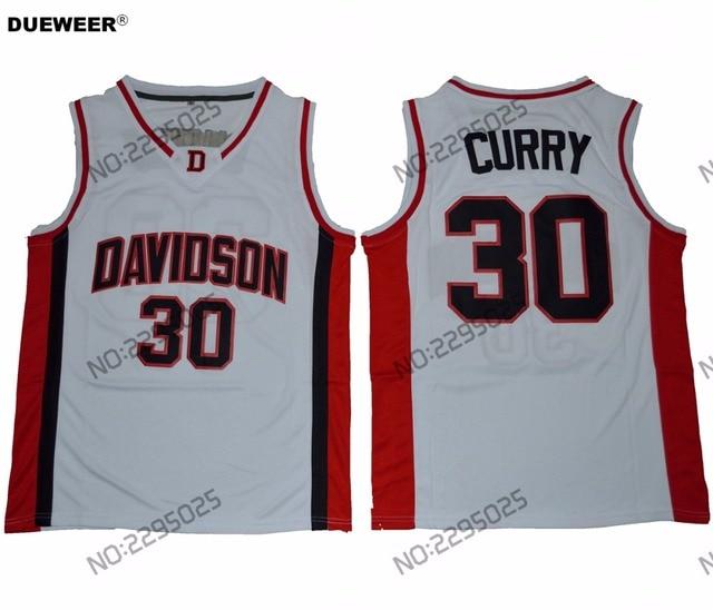 differently 0d009 99d06 DUEWEER Męskie Retro Stephen Curry College Basketball Jersey Davidson  Wildcat College Basketball Koszulki Stitched Białe Koszule w DUEWEER Męskie  ...