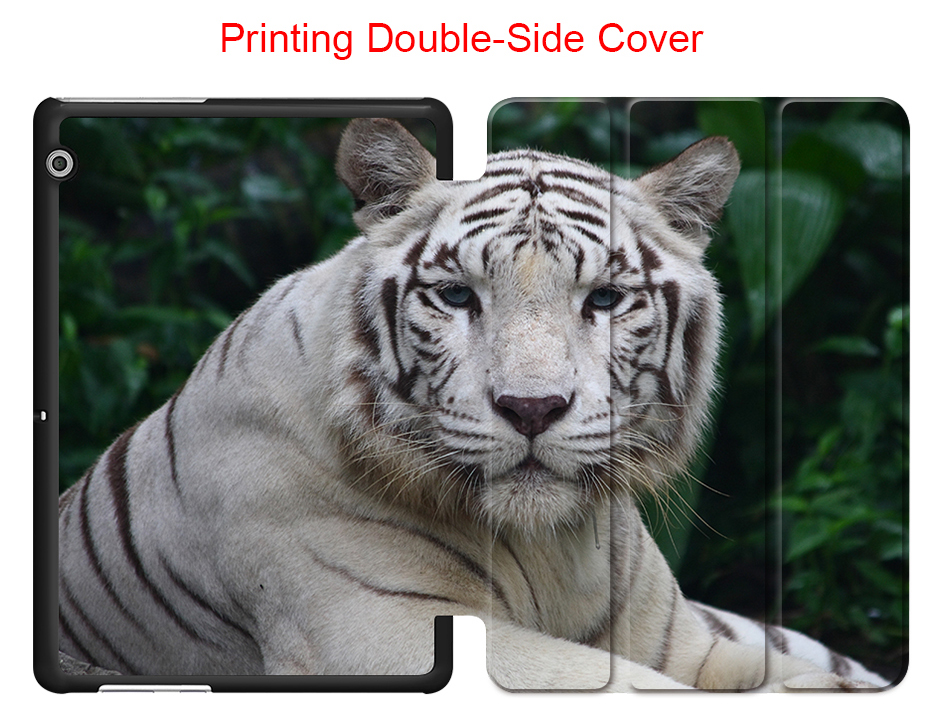 Angry Tiger Protector Skin For Huawei T3 10 AGS-L09 AGS-L03 PU Leather Case Flip Cover For Huawei Honor Pad 2 T3 9.6 Tablet Case