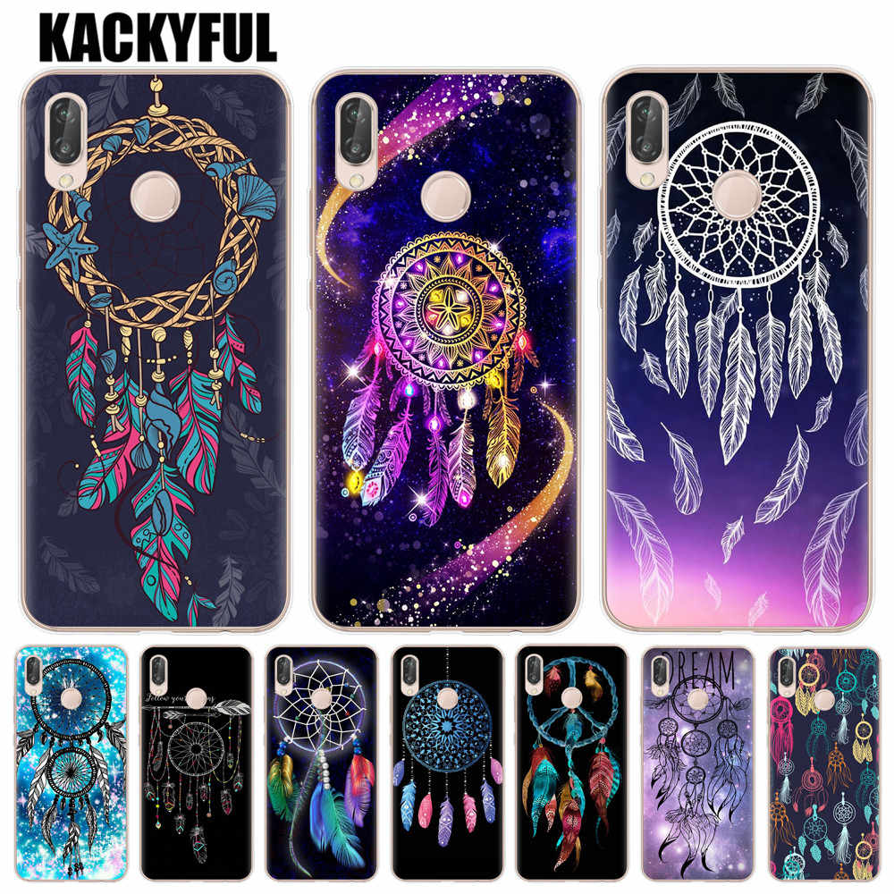 Dreamcatcher Colourful Feathers Case For Huawei P20 P10 Mate 10 20 Lite Pro P9 P8 Lite 2017 Honor 10 9 Lite 6X 7X Soft TPU Cover