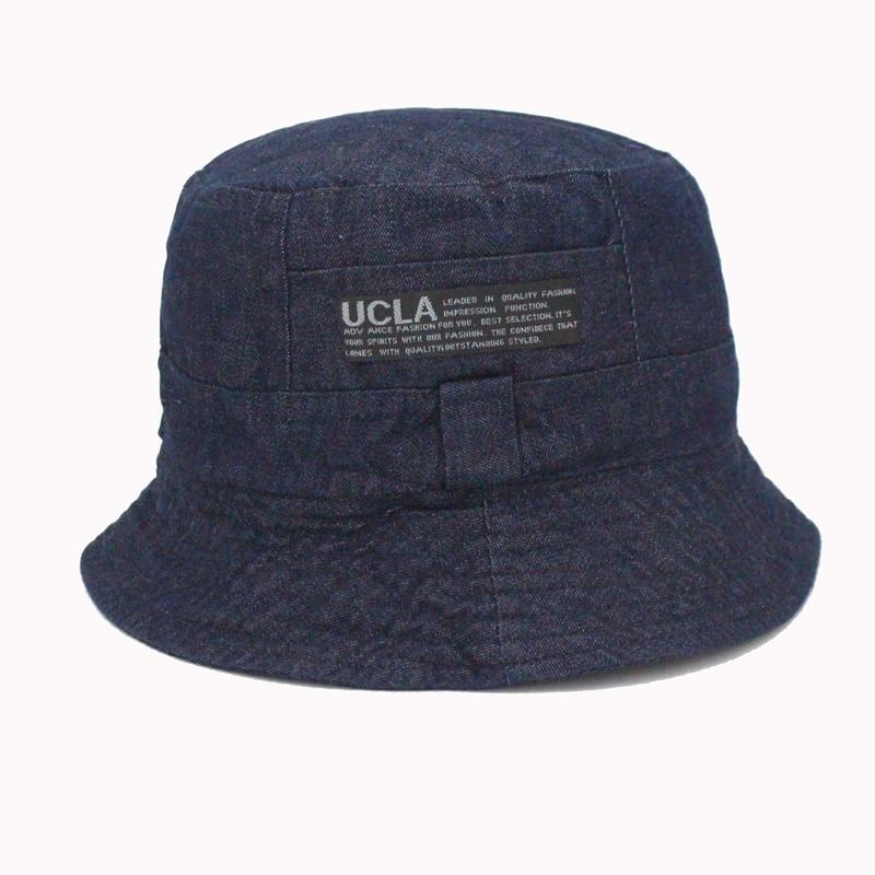 2016 Fashion Cottonblend Denim Unisex Cap Bucket Hat Ամառային - Հագուստի պարագաներ