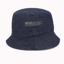 2016 Fashion Cottonblend Denim Unisex Cap Bucket Hat Summer Outdoor Fishing  Caps for Men and Women Flat Sun Berets HT51041+20