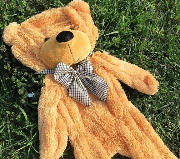180cm pink brown white color big teddy bear skin Doll coat plush stuffed toy baby chikldren birthday Christmas gift