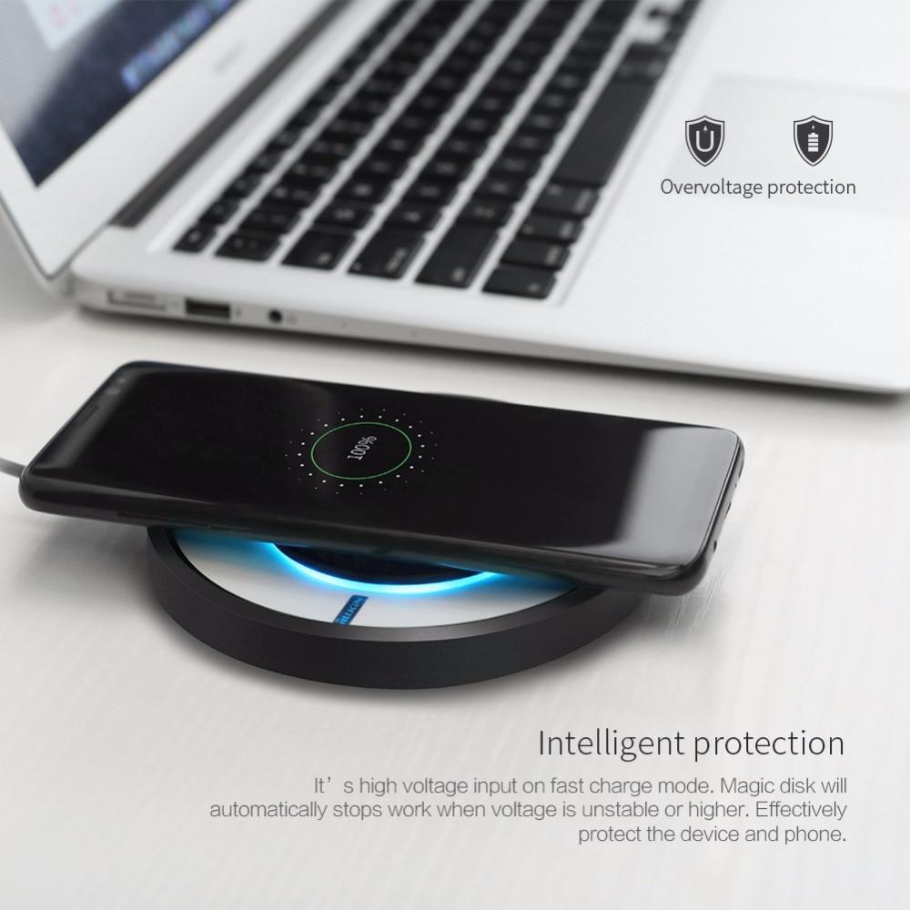 NILLKIN Magic Disk 4 Fast Qi Trådlös Laddare för iPhone 8 Plus X Samsung Galaxy S8 Plus