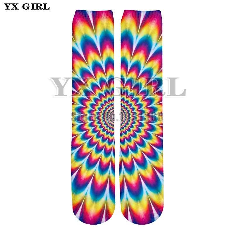 YX GIRL 2018 funny things men women Sexy lips 3d print anime character funny socks Harajuku unisex cool Cotton long socks