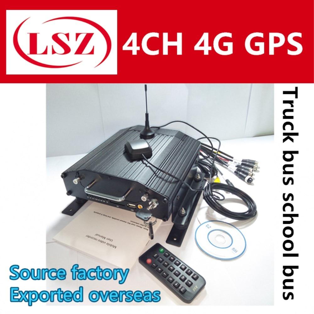 4 г Автомобильный видеорегистратор gps Wi-Fi mdvr 4 канала жесткий диск хост мониторинга грузовик/лодка мобильный видеорегистратор поддержка Ита...
