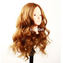 60CM hair length 85% natural human mannequin head doll with practice wig