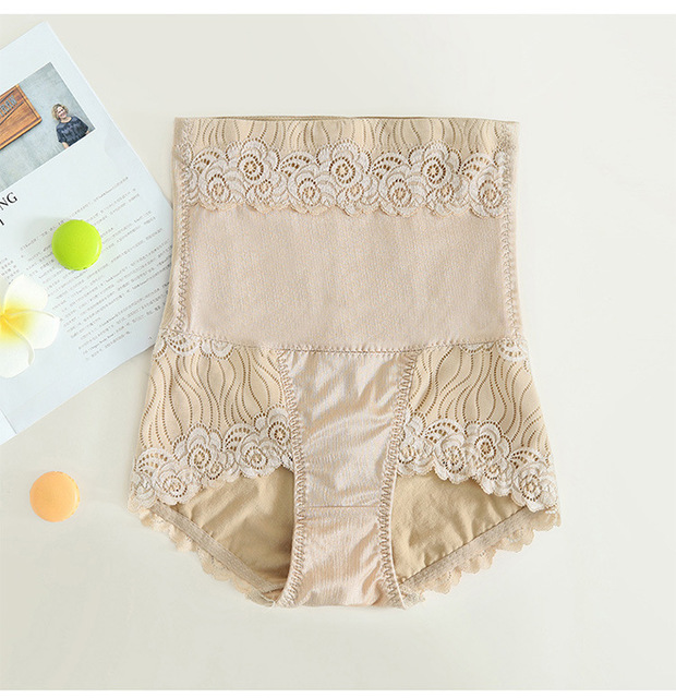 PRAYGER Abdomen control Hips Lace Body Shapers Sexy Slimming High Waist Underwear smooth butt lift panties