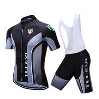 New Men S Cycling Bike Jerseys Short Sleeve Clothing Bicycle Bib Shorts Set Quick Dry Black