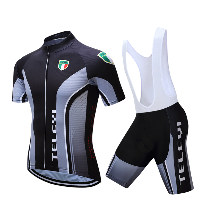 New Men's Cycling Bike Jerseys Short Sleeve Clothing Bicycle Bib Shorts Set Quick Dry Black S-4XL santic men s cycling hooded jerseys rainproof waterproof bicycle bike rain coat raincoat with removable hat for outdoor riding