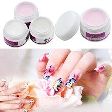 New Arrival Sparkle Clear Transparent Color Acrylic Crystal Powder Nail Tips DIY Beauty Tool